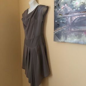 Dresses & Skirts - Boutique purchased sheer grey biased cut dress